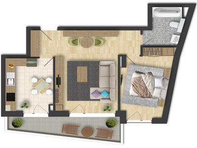 Vanzare Apartament 2 Camere+Loc PArcare In Zona USAMV