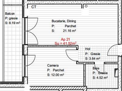 Vanzare Apartament 2 Camere 41.52 mp In Zona Calea Baciului