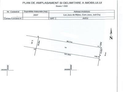 FARA COMISION CUMPARATOR! De vanzare teren industrial 2037 mp In Jucu